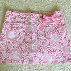 Lilly Pulitzer Pink Floral Skort Skirt Women's 10